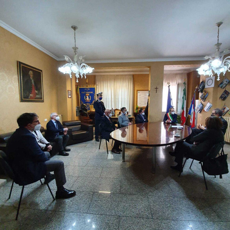 Frattamaggiore, Il Prefetto fa visita alla Città. Movida e covid nell'agenda Istituzionale
