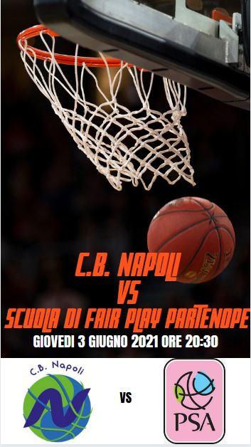 Basket, Serie C Femminile Campania: giovedì 3 giugno 2021 alle ore 20:30 c'è C.B. Napoli – Scuola di Fair Play Partenope