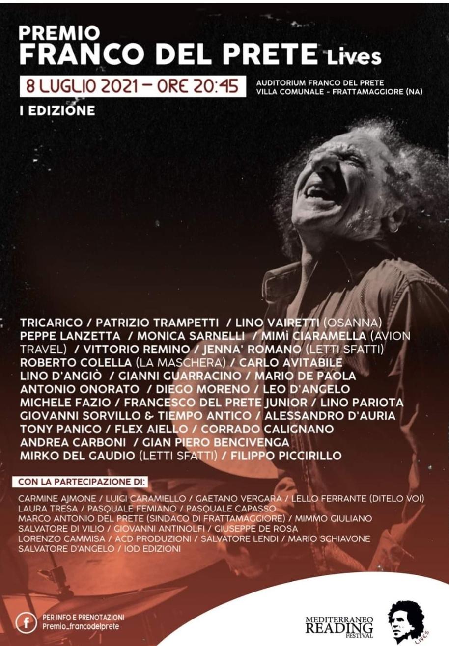 Musica, premio Franco Del Prete: l'omaggio al grande batterista degli Showmen e Napoli Centrale