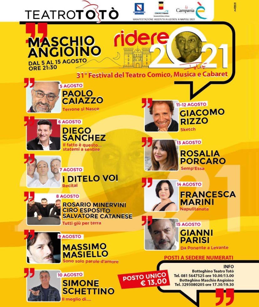 """A Napoli il festival del teatro comico """"Ridere 2021"""""""