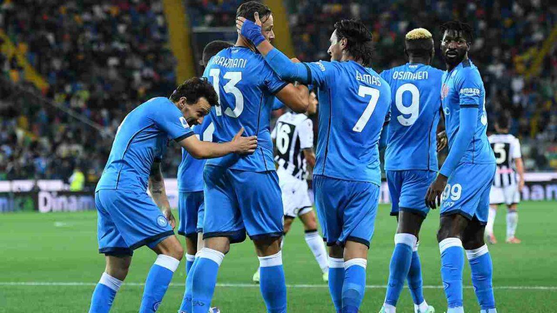 Il Napoli vince e convince: Udinese battuta e primato in campionato